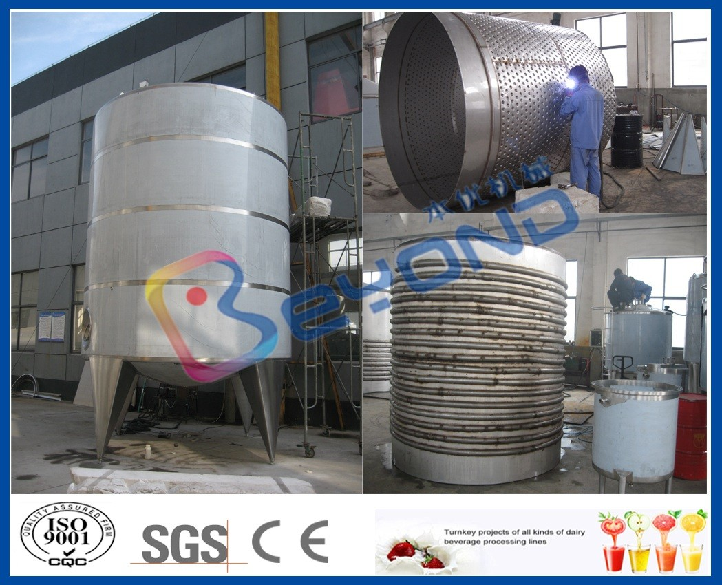 SUS304 Double Layer Tank / Stainless Steel Tanks For Juice Storage And Insulation