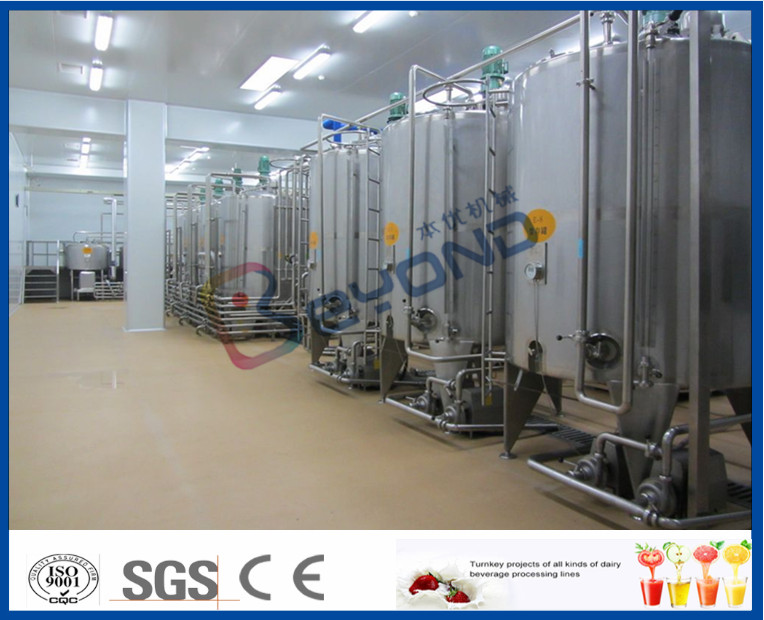 5000 LPH Beverage Production Line Fruit Juice Powder Mixing And Sterilizing Plant