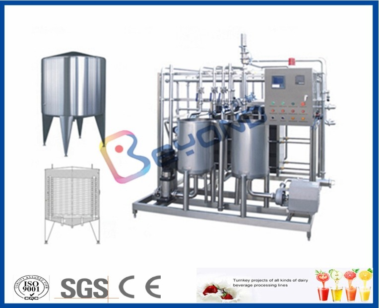 Plate Type Small Scale Pasteurization Equipment , Yoghurt Dairy Milking Equipment