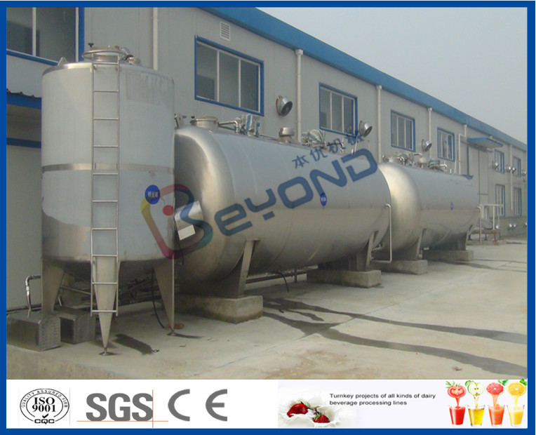 Stainless Steel Large Outdoor Juice Storage Tank , Milk Storage Tank With SUS304 SUS316