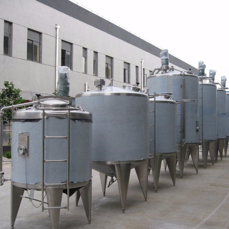 Syrups Mixing / Blending Water Jacketed Tank SUS304 Cylindrical Shape For Food Industries